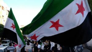 Protests against the Assad regime in Jubar near Damascus (photo: Reuters)
