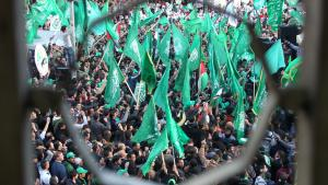 Celebration of the 25th anniversary of Hamas, Nablus (Photo: AFP/Getty Images)