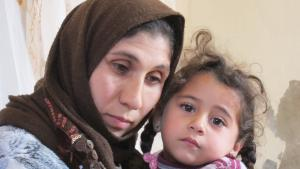 Syrian refugees in Jordan: Inam and her daughter Najah (photo: Claudia Mende)