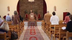Pastor Rola Sleiman in her church in Tripoli (photo: DW/A. Williams)