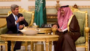 U.S. Secretary of State John Kerry (left) and Saudi Foreign Minister Prince Saud Al-Faisal bin Abdulaziz al-Saud in November 2013 (photo: REUTERS/Jason Reed)