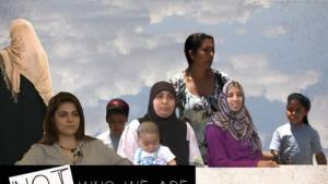"Poster for the documentary film ""Not Who We Are"" by Carol Mansour (source: Forward Film Production)"
