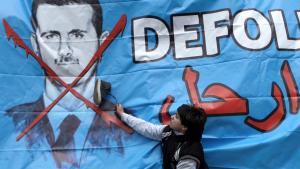 Anti-Assad graffiti in Istanbul (photo: dpa/picture-alliance)