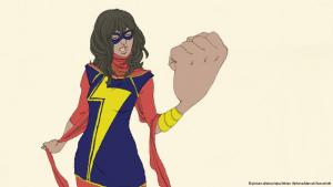Superheroine Kamala Khan aka Ms Marvel (photo: picture-alliance/dpa/Adrian Alphona/Marvell/Auschnitt)