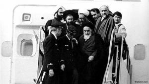 1 February 1979: Ayatollah Ruhollah Khomeini returns to Tehran from exile in Paris. Euphoric Iranians greeted him at the airport as he touched down. For years, he had criticised the shah and the political elite in Iran for suppressing dissidents, for westernising the country and for their extravagant lifestyles.