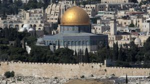 The golden dome of the Dome of the Rock as seen from the Mount of Olives (photo: dpa/picture-alliance)