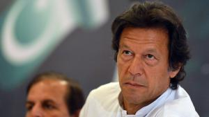 Imran Khan attends the unveiling of his party's manifesto for the 2013 general election, Islamabad, 9 April 2013 (photo: Aamir QureshiAFP/Getty Images)