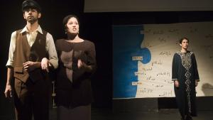 "Photo of a Nemashim theatre production entitled ""Remembering the return to Haifa"" (photo: Flickr.com)"