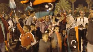 Celebrations on Martyrs' Square in Tripoli to mark the third anniversary of the start of the 2011 revolution (photo: Valerie Stocker)