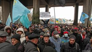 Crimean Tatars demonstrate against the possibility of Crimea becoming part of Russia (photo: dpa/picture-alliance)