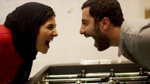 "Baran Kosari and Navid Mohammadzadeh in a still from the Iranian film ""Asabani Nistam!"" (I'm not angry!)"