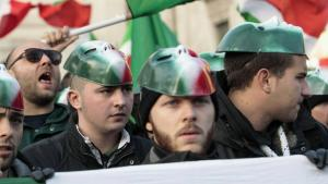 Supporters of the neo-fascist CasaPound movement in Italy (photo: imago)