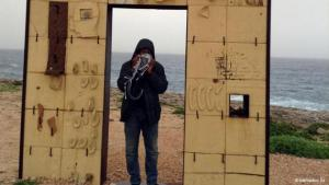 Lampedusa Gate, Lampedusa. Mamadou Ba from Senegal has been living in Portugal since 1997. He is a human rights activist for the non-governmental organisation SOS Racismo. His images of Lampedusa are a haunting reminder of what happens to refugees who risk their lives crossing the Mediterranean in the hope of reaching Europe.