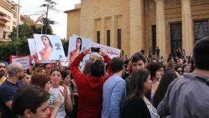 KAFA demonstration on International Women's Day on 8 March in Beirut (photo: Juliane Metzker)