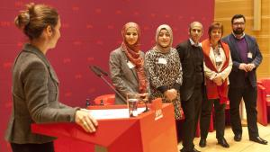 Members of the Working Group for Muslims in the SPD (photo: Hendrik Rauch)