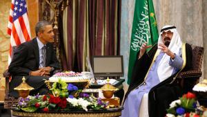 US President Barack Obama during a meeting with Saudi Arabia's King Abdullah in Rawdat al-Khraim near Riyadh (photo: Reuters)