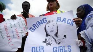 People protesting at the kidnapping of over 200 Nigerian schoolgirls by Boko Haram (photo: Reuters)