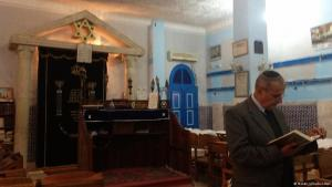 A Jewish elderly man in a Synagogue in Tunisia (photo: Naomi Scherbel-Ball)