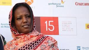 Aziza Brahim at the 15th Malaga Spanish Film Festival, in Malaga, Spain, 24 April 2012 (photo: picture-alliance/dpa)