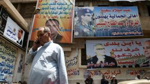 Abdul Fattah al-Sisi's image is omnipresent in the Cairo district of Gamaliya (photo: Markus Symank)