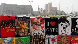 Pro-Sisi and pro-Egypt products on sale in Cairo (photo: DW/B. Knight)