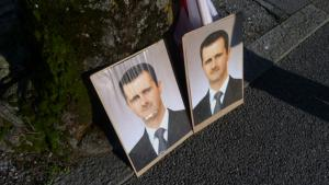 Portraits of the Syrian president, Bashar al-Assad (photo: DW)