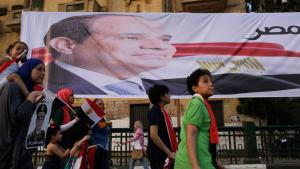 Supporters of Abdul Fattah al-Sisi on 3 June 2014 in Cairo (photo: Reuters)
