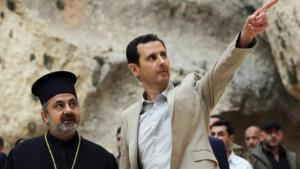 President Bashar al-Assad visiting the Christian town of Maalula (photo: dpa)