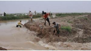 An irrigation canal on the Euphrates bursting its banks (photo: Birgit Svensson)