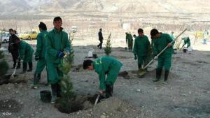 Afghan workers in Iran (photo: Murtzeza Musawi/DW)