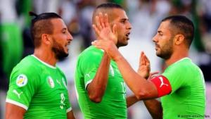 Members of the Algerian national soccer team (photo: dpa/picture-alliance)