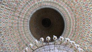 Interior of the dome of the mosque in Jundiaì. Photo: Ekrem Güzeldere