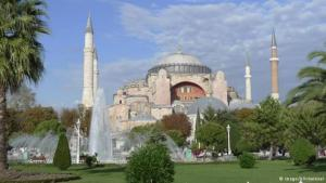 """In 532, the Roman Emperor Justinian ordered the construction of an awe-inspiring church in his residence, Constantinople, """"one that has never existed since Adam's time, and one that will never exist again."""" Around 10,000 workers were involved in its construction. For a millennium, the basilica on the Bosphorus remained Christendom's biggest church."""
