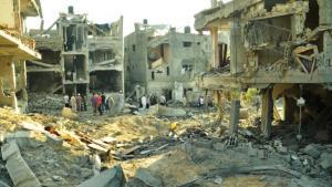 Ruined buildings in the Gaza Strip, 19 July 2014 (photo: DW/Shawgy el Farra)