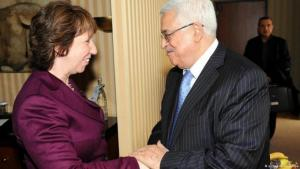 Catherine Ashton, EU High Representative of the Union for Foreign Affairs and Security Policy, and Mahmoud Abbas, Palestinian Authority President (photo: picture alliance/dpa)