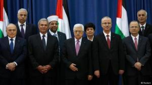 Palestinian President Mahmoud Abbas with his new government of national unity (Photo: Reuters)