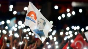 Erdogan supporters celebrating in Ankara after the announcement of his election victory (photo: Reuters)