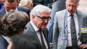 Germany's foreign minister Frank-Walter Steinmeier at the gathering of EU foreign ministers in Brussels on 22 July 2014 (photo: picture-alliance/dpa)