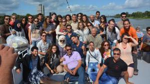 Young Palestinians and Israelis at the KfGD dialogue event in Bonn (photo: KfGD)