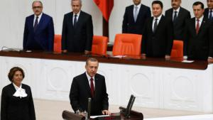 President Recep Tayyip Erdogan being sworn into office in Ankara on 28 August 2014 (photo: Reuters)