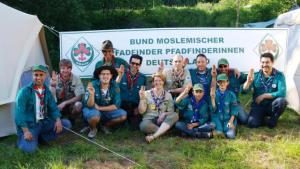 Members of the BMPPD (photo: Federation of Muslim Boy and Girls Scouts of Germany)