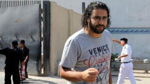 The Egyptian blogger and activist Alaa Abdel-Fattah (photo: picture-alliance/dpa)