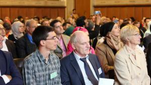 """Participants at the congress """"Horizons of Islamic Theology"""" in Frankfurt (photo: Institute for the Study of Islamic Culture and Religion)"""