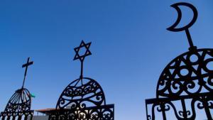 Photo symbolising Christianity, Judaism and Islam (photo: picture-alliance/Godong)
