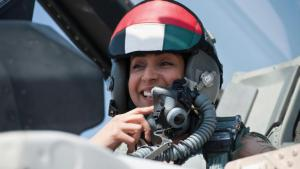 Major Mariam al-Mansouri, the UAE's first female air force pilot (photo: picture-alliance/abaca)