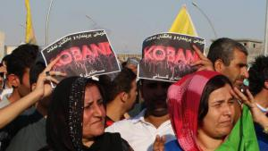 A Kobani solidarity demonstration in the centre of Erbil on 8 October (photo: Ekrem Guzeldere)