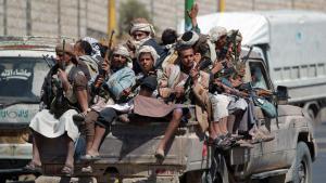 Yemeni Shia Houthi rebels in Sanaa on 21 September 2014 (photo: AFP/Getty Images)