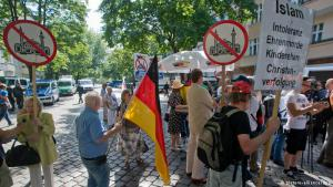 Anti-Islam demonstration in Mülheim, Germany (photo: dpa)