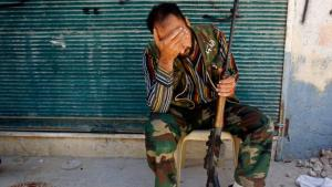A Free Syrian Army (FSA) rebel in Aleppo (photo: Reuters)