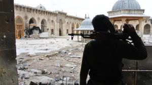Damage to the Grand Mosque in Aleppo (photo: picture-alliance/abaca)